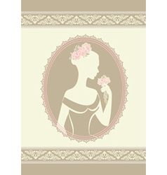 Lady in a wedding dress vector