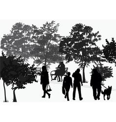 People walk in the park vector