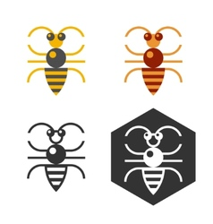 Abstract bee flat element vector