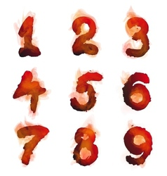 English burning numbers vector