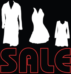 Sale with clothes sign vector