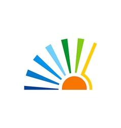 Sun solar icon abstract logo vector