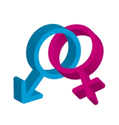 Male female symbol vector