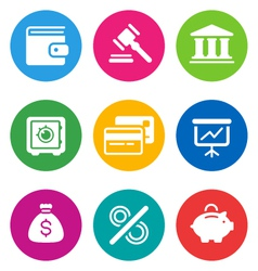 Color finance icons vector