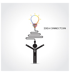 Light bulb symbol and knowledge connection vector
