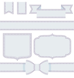 Set of ribbons with seams vector