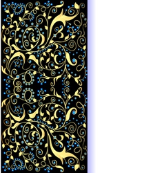 Background gold ornaments vector