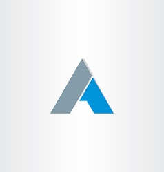 Blue black letter a business icon vector