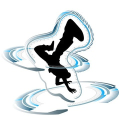 Funky breakdancer vector