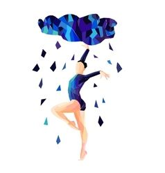 Abstract image of a dancing girl vector