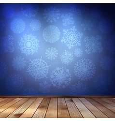 Snowflakes in blue room eps 10 vector