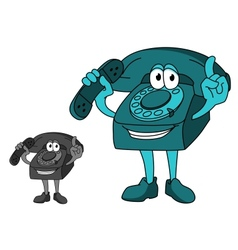 Cartoon telephone vector