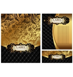 Ornate golden menu cover vector