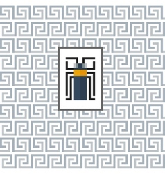 Geometric pattern with a beetle in the center vector