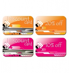 Discount card vector