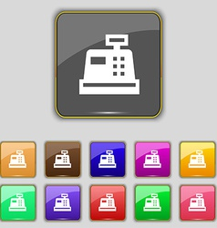 Cash register icon sign set with eleven colored vector