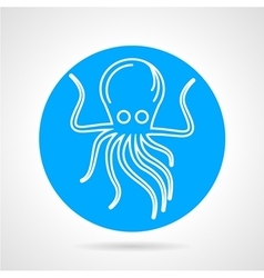 Octopus blue round icon vector