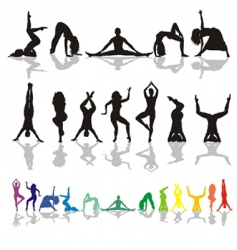 Yoga and fitness woman vector