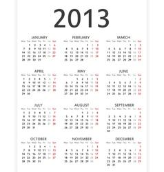 Simple 2013 calendar vector