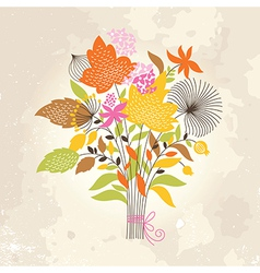 Floral autumnal bouquet vector