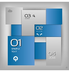 Business squares template blue with text vector