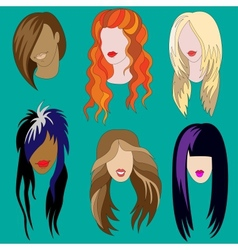 Womens haircuts vector