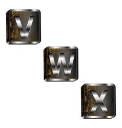 Vwx iron letters vector