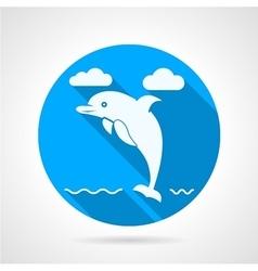 Dolphin flat icon vector