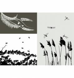 Nature grass vector