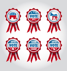 Badges us presidential election 2012 vector