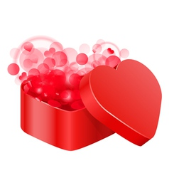 Red heart box vector