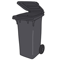 Plastic dustbin vector