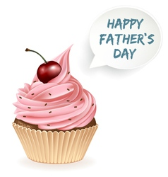Happy fathers day cupcake vector