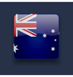 Square icon with flag of australia vector