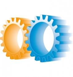 Logo gears vector