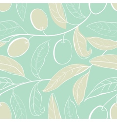 Olive seamless pattern vector