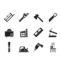 Silhouette woodworking industry vector