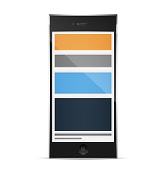 Responsive grid layout on phone vector