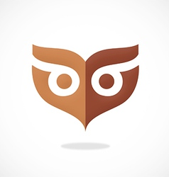 Owl mask abstract logo vector