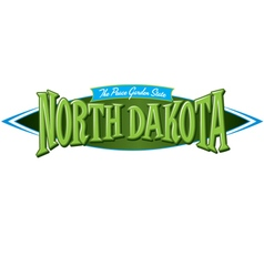 North dakota the peace garden state vector
