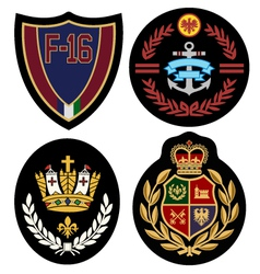 Royal badge design set vector