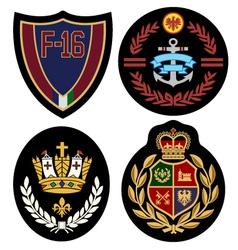 Royal badge design set vector