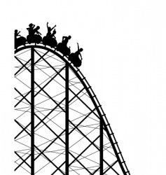 Rollercoaster vector