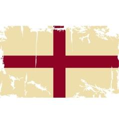English grunge flag vector