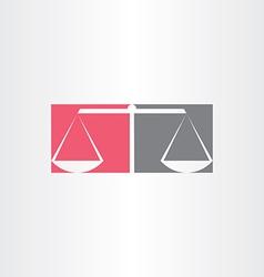 Scales of justice symbol design vector