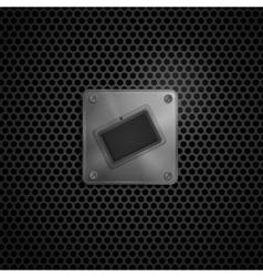 Smart phone  tablet pc metal texture vector