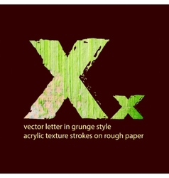 Grungy letter x vector