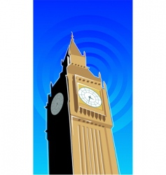 Ben clock tower vector