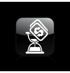 Time cost icon vector