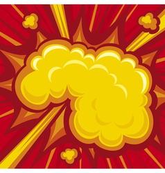 Comic book explosion vector